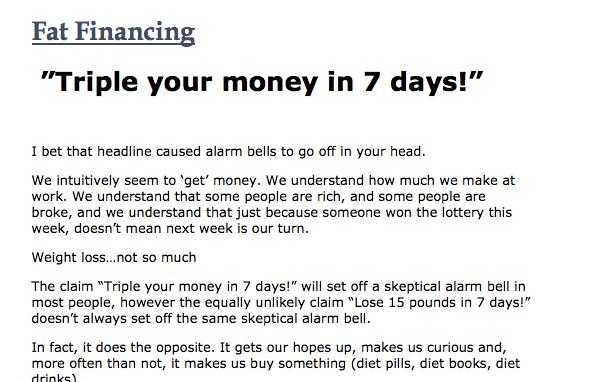 Fat Financing